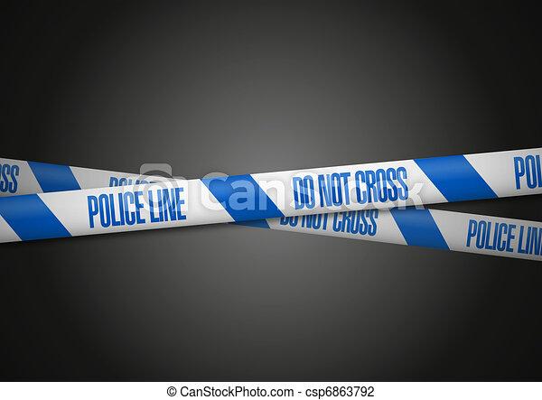 La línea de policía inglesa no se cruza - csp6863792