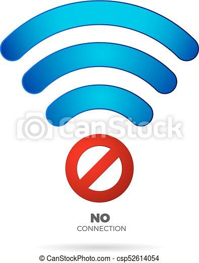No internet connection sign vector no wifi vector icon.