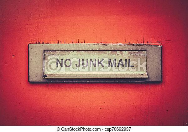 No Junk Mail Letterbox - csp70692937
