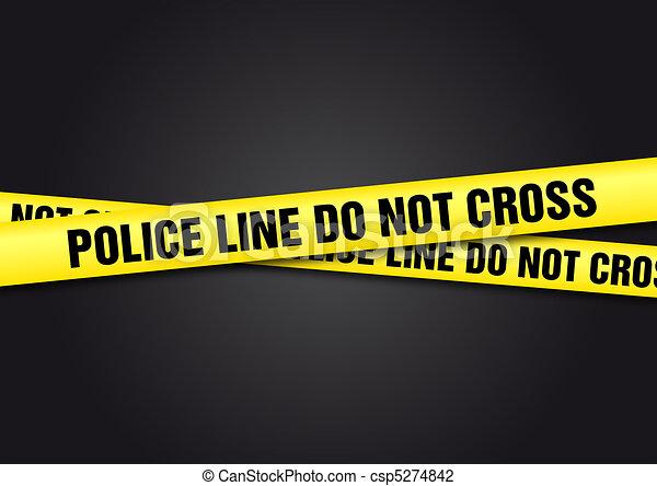 La policía no cruza - csp5274842