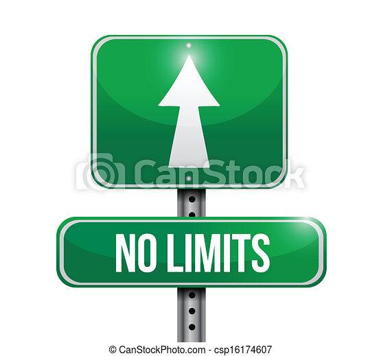 no limits road sign illustration - csp16174607