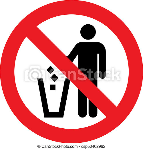 No Litter Sign No Litter Allowed Sign