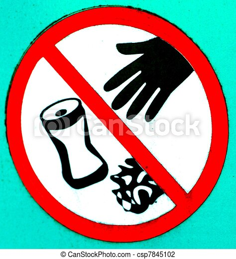 No Littering Sign A Stylized No Littering Sign