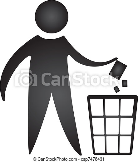 Black No Littering Sign Isolated Over White Background Vector