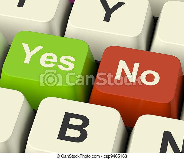 Sí, no hay llaves que representen incertidumbre y decisiones en línea - csp9465163