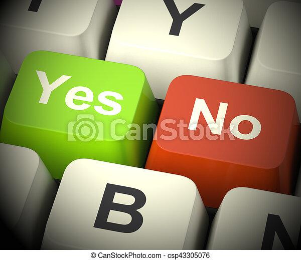 Sí, no hay llaves que representen la incertidumbre y las decisiones 3D - csp43305076