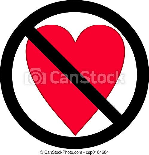 No Love Symbol Drawing Csp