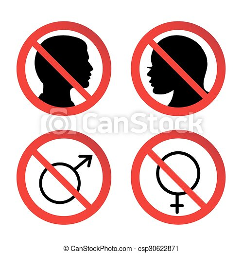No Man And Woman Sign No Man And Woman Entry Sign No Ban Or Stop