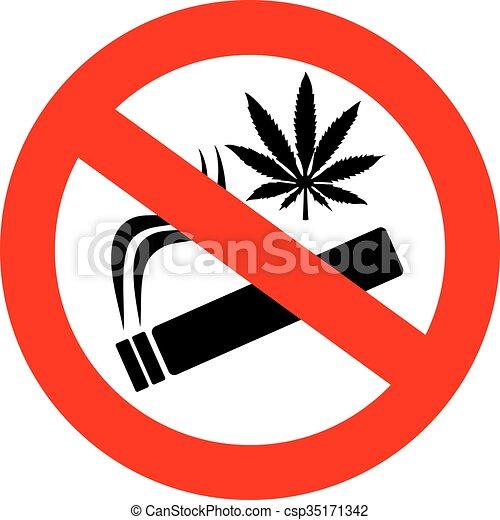 No marijuana smoking sign - csp35171342