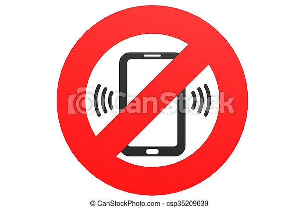 No mobile phone sign - csp35209639