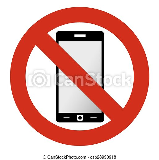 no mobile phone sign no mobile phone allowed sign turn off mobile rh canstockphoto com Cell Phone Graphic Silence Cell Phone Clip Art