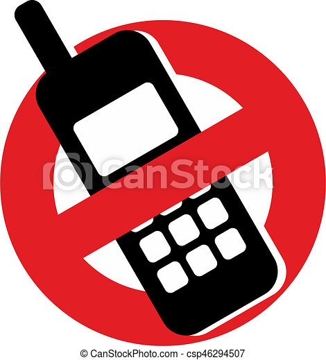 No Mobile Phones Sign Prohibiting The Use Of Mobile Phones