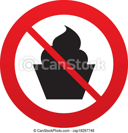 no muffin food sign icon sweet cake symbol red prohibition eps rh canstockphoto com no food allowed clipart no food allowed clipart