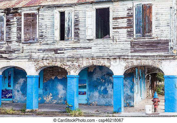 No Paint Over Blue Paint - csp46218067