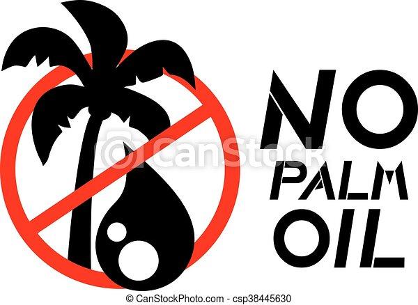 Creative Design Of No Palm Oil Symbol