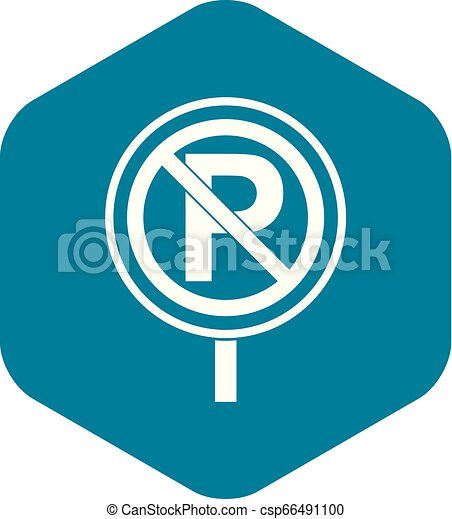 No parking sign icon, simple style - csp66491100