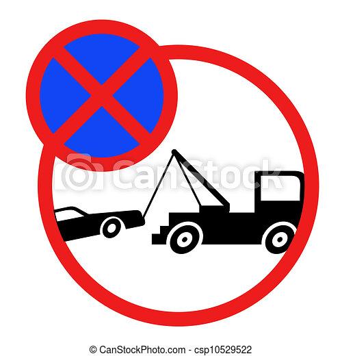 No parking sign - csp10529522