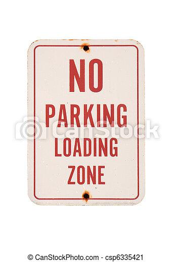 No parking sign - csp6335421