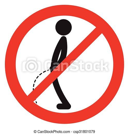 No peeing sign symbol vector - csp31801079