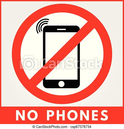 No phone sign. Vector illustration - csp67378734