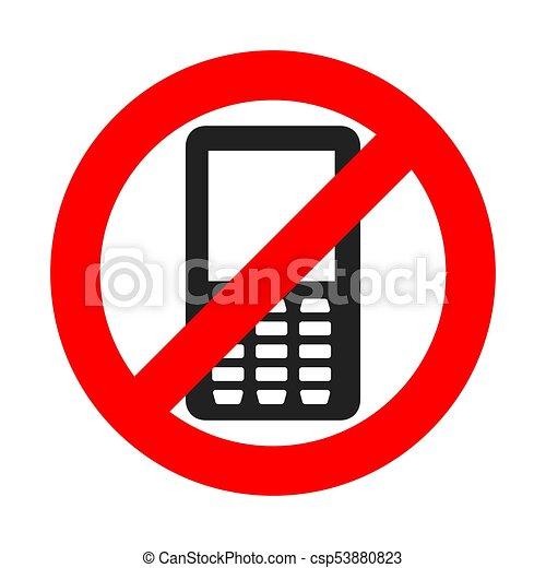 no phone sign vector illustration