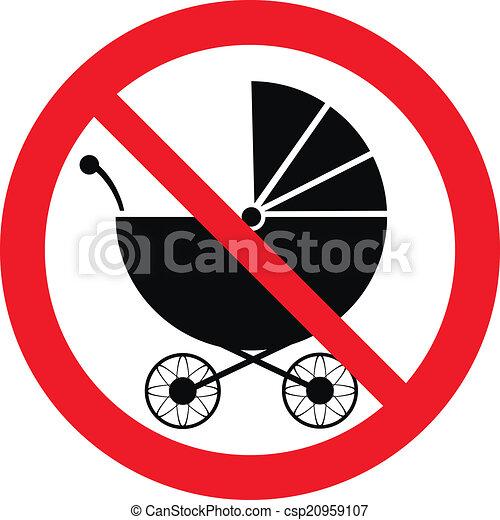 No pram sign - csp20959107