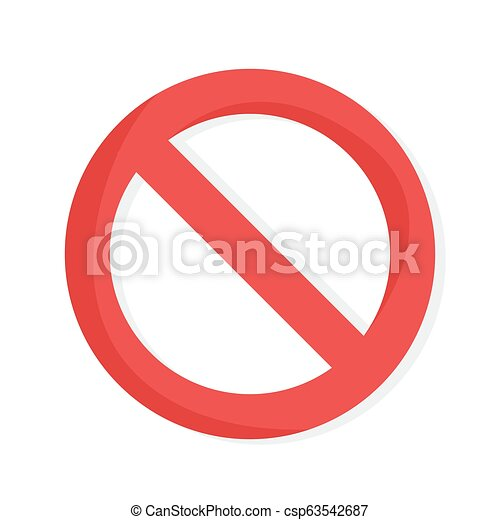 No red sign. Cellphone behind forbidden sign - csp63542687