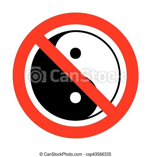 Ningún símbolo Ying yang de armonía y equilibrio. - csp43566335