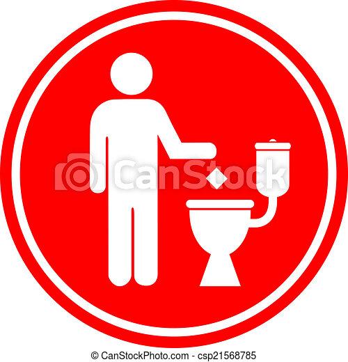 No tires basura en el baño - csp21568785