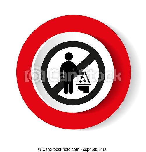 No tires basura al inodoro - csp46855460