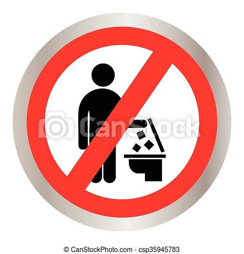 No tires basura al inodoro - csp35945783