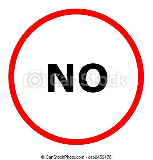 No Sign - csp2453478