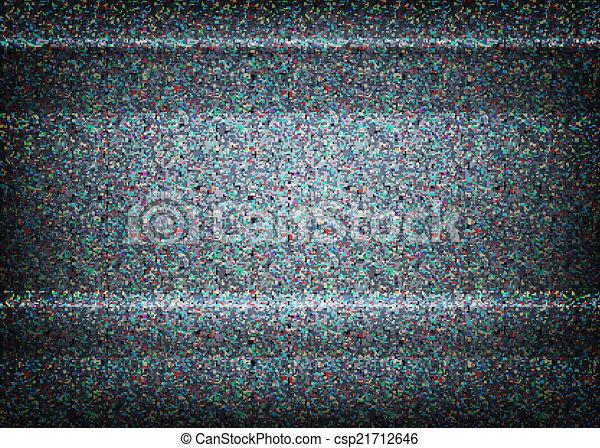 No signal TV illustration. Scalable vector. Error concept - csp21712646