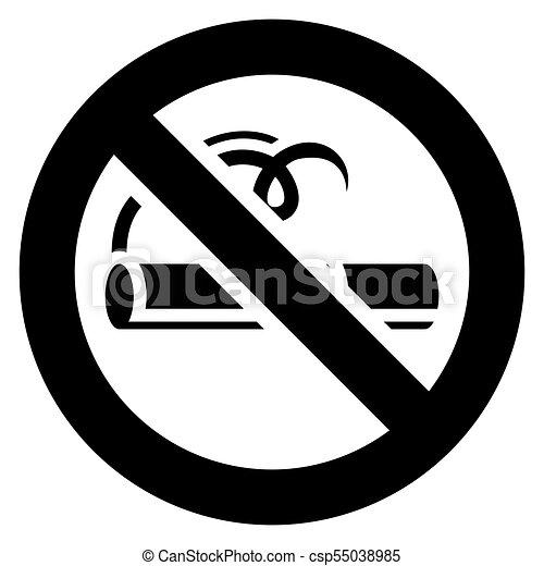 no smoking black sign csp55038985