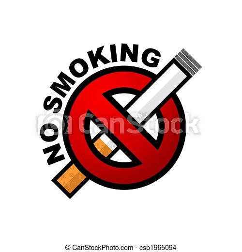 No Smoking Iilustration Of No Smoking Sign