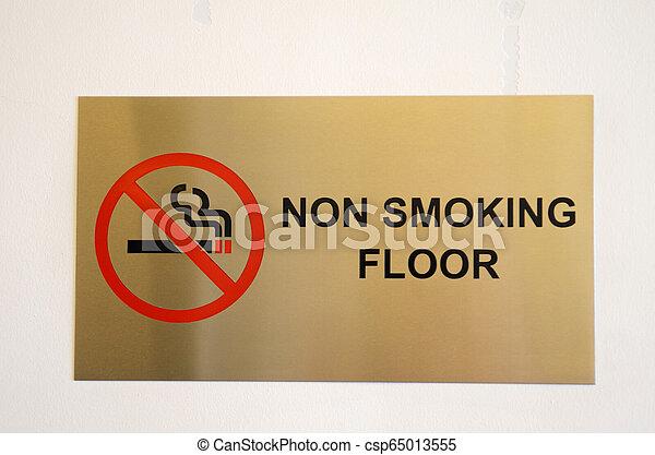 No smoking floor sign - csp65013555