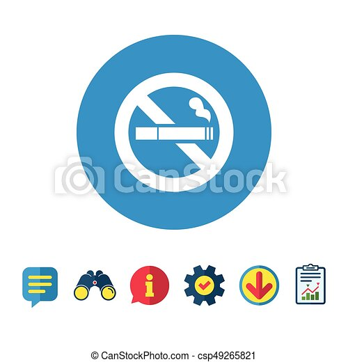 no smoking sign icon cigarette symbol information report and