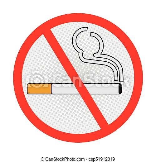 No Smoking Sign On White Background Vecter Sign Design No Smoking