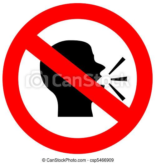 No speak sign - csp5466909