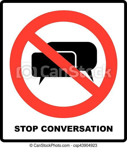 stop conversation no stop sign forbidden head talking vector rh canstockphoto ie no talking clipart free