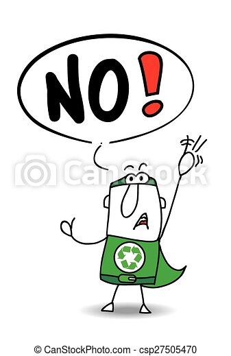No super recycling man - csp27505470