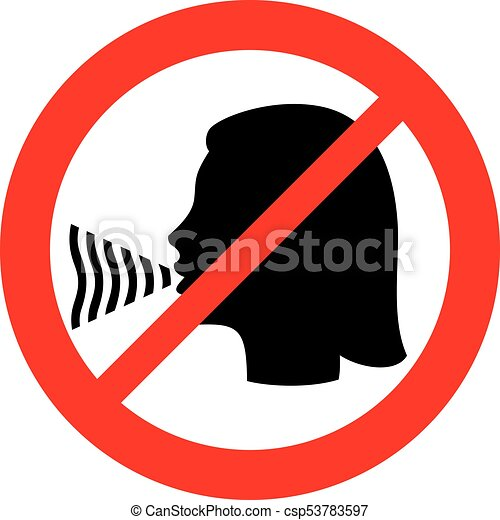 no talking sign rh canstockphoto com no talking clipart No Loud Talking Sign