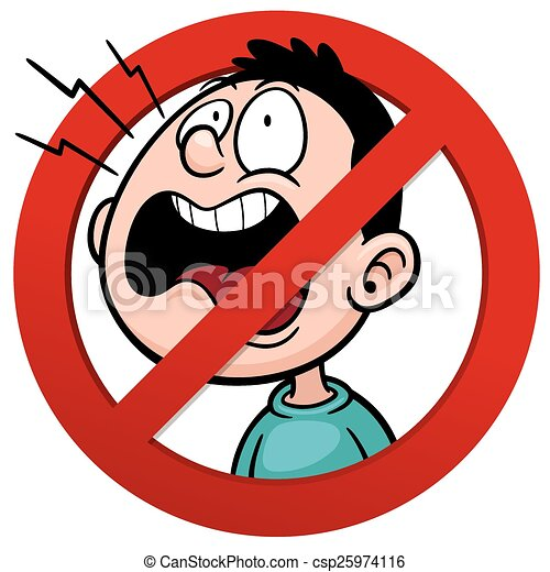 No talking - csp25974116