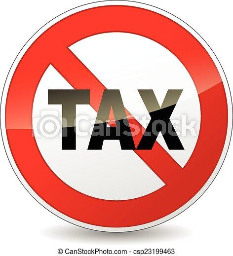 no tax sign - csp23199463