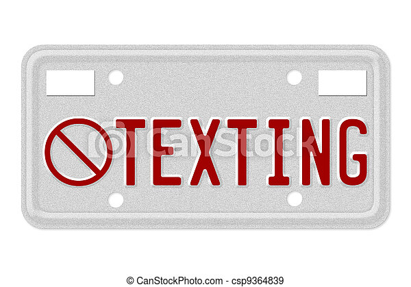 No texting while driving - csp9364839