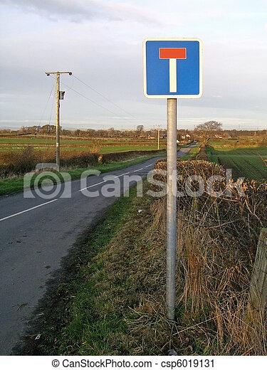No Through Road sign - csp6019131