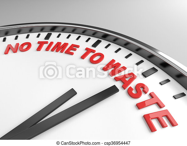 no time to waste - csp36954447