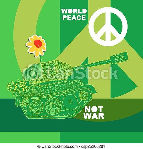 No war Postcard, poster. - csp25266281