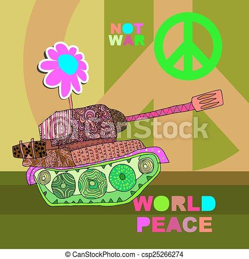 No war Postcard, poster - csp25266274