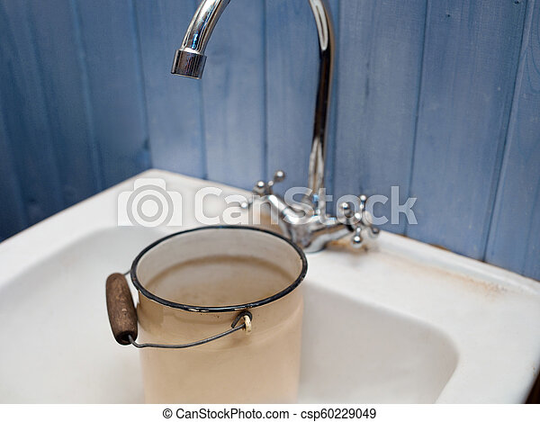 No Water Home Empty Can In A Kitchen Sink Indoor Closeup